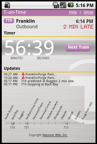 T-on-Time mobile on Android